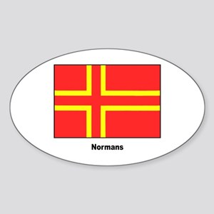 Norman Ancestry Flag Oval Sticker