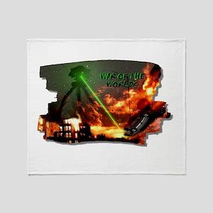 war of the worlds Throw Blanket