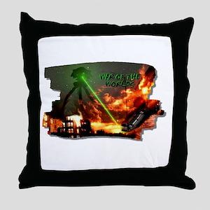 war of the worlds Throw Pillow