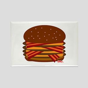 Bacon QUAD! Rectangle Magnet