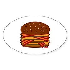 Bacon QUAD! Sticker (Oval)