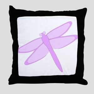 Purple Dragonfly Design Throw Pillow