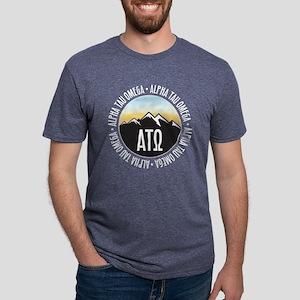Alpha Tau Omega Mountain S Mens Tri-blend T-Shirts