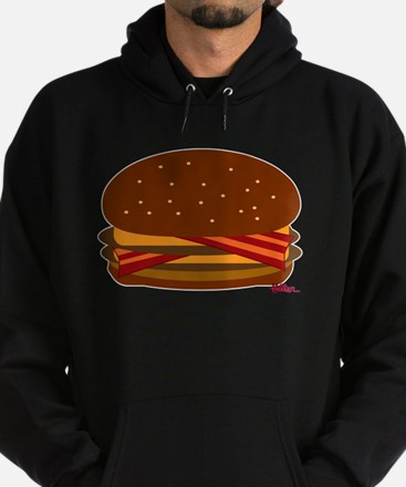 Bacon DOUBLE Cheese! Hoodie (dark)