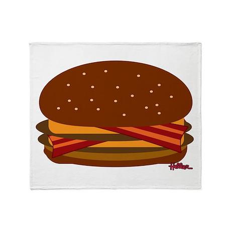 Bacon DOUBLE Cheese! Throw Blanket