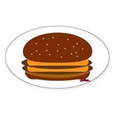 Original Double Cheese! Sticker (Oval)