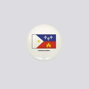 Louisiana Acadian Flag Mini Button