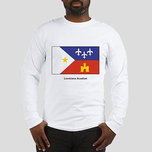 Louisiana Acadian Flag Long Sleeve T-Shirt