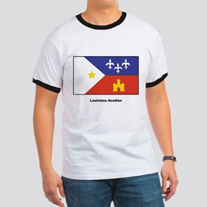 Louisiana Acadian Flag Ringer T