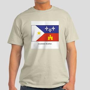 Louisiana Acadian Flag Light T-Shirt