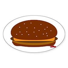 Cheeseburger - The Single! Sticker (Oval)