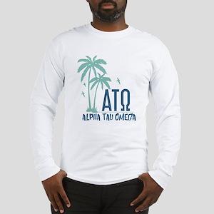 Alpha Tau Omega Palm Tree Long Sleeve T-Shirt