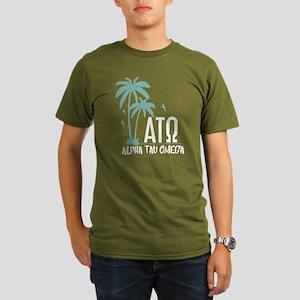 Alpha Tau Omega Palm Organic Men's T-Shirt (dark)