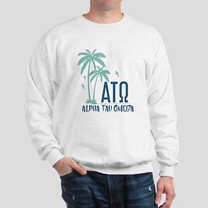 Alpha Tau Omega Palm Tree Sweatshirt