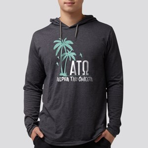 Alpha Tau Omega Palm Tree Mens Hooded T-Shirts