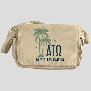 Alpha Tau Omega Palm Tree Messenger Bag