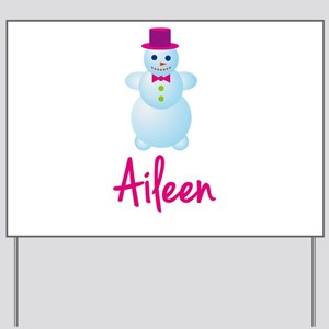 Aileen the snow woman Yard Sign