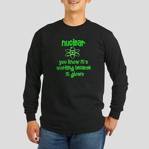 Funny Nuclear Nuke Long Sleeve Dark T-Shirt