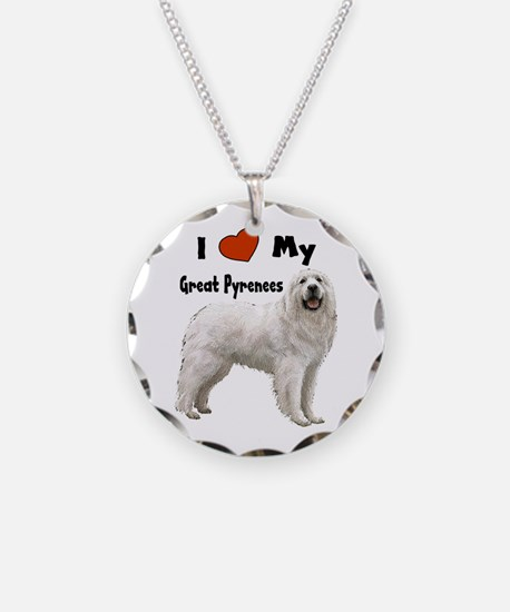 I Love My Great Pyrenees Necklace