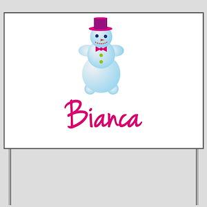 Bianca the snow woman Yard Sign