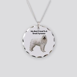 Great Pyrenees Necklace Circle Charm