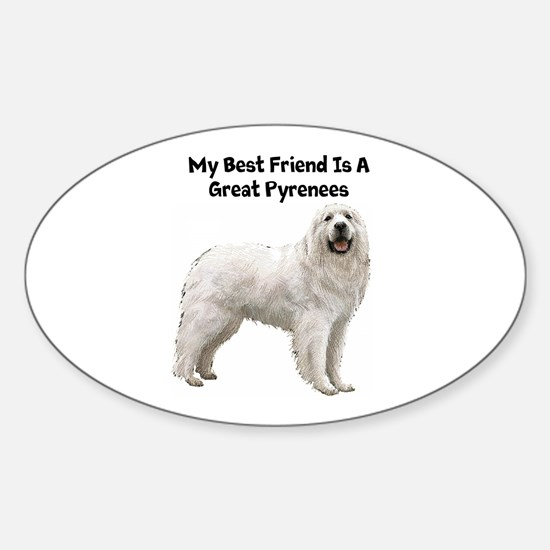 Great Pyrenees Oval Decal