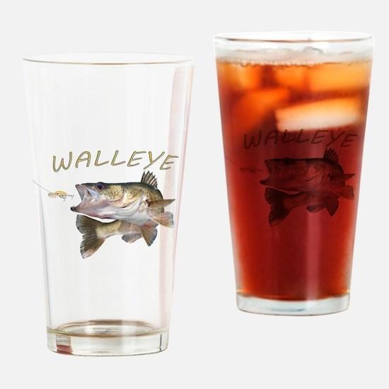 Funny Fisherman Drinking Glass