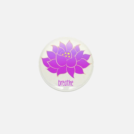 Breathe Lotus Mini Button