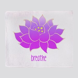 Breathe Lotus Throw Blanket