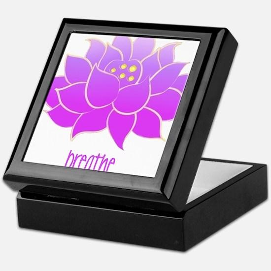 Breathe Lotus Keepsake Box