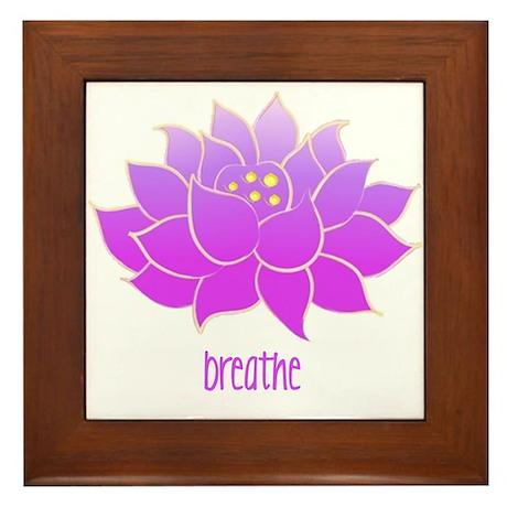 Breathe Lotus Framed Tile