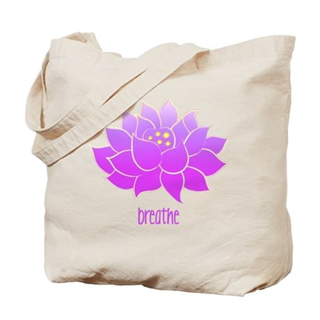 Breathe Lotus Tote Bag