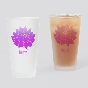 Breathe Lotus Drinking Glass