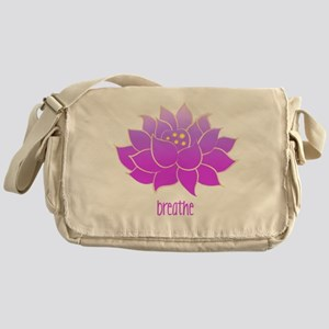 Breathe Lotus Messenger Bag