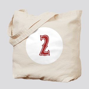 Red Sox White #2 Tote Bag