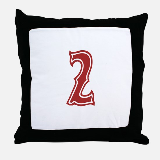 Red Sox White #2 Throw Pillow