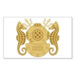 Navy Diving Officer Sticker (Rectangle)