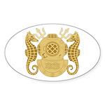 Navy Diving Officer Sticker (Oval)