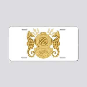 Navy Diving Officer Aluminum License Plate