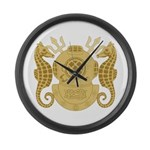 Navy Diving Officer Large Wall Clock