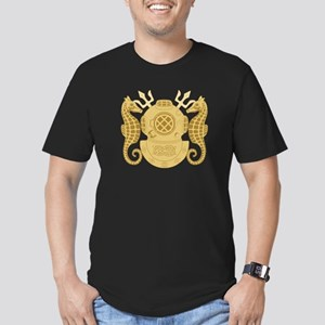 Navy Diving Officer Men's Fitted T-Shirt (dark)