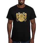 Navy Diving Officer Men's Fitted T-Shirt (dark)