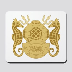 Navy Diving Officer Mousepad