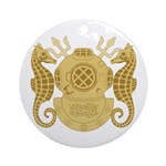 Navy Diving Officer Ornament (Round)