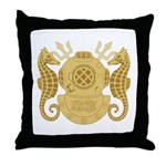 Navy Diving Officer Throw Pillow