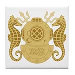 Navy Diving Officer Tile Coaster