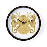 Navy Diving Officer Wall Clock