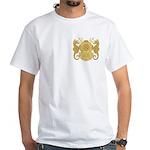 Navy Diving Officer White T-Shirt