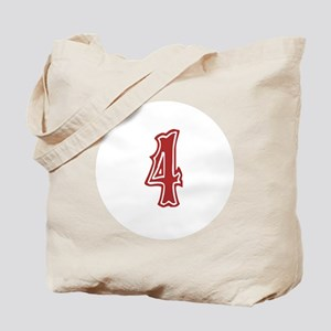Red Sox White #4 Tote Bag