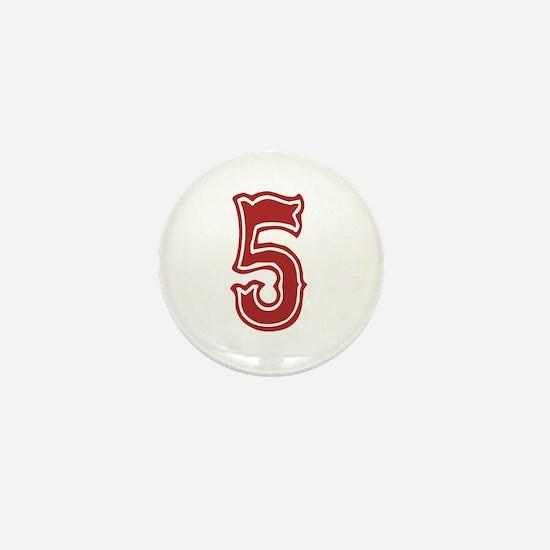 Red Sox White #5 Mini Button